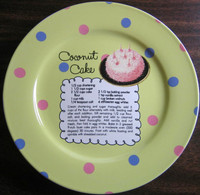 Whimsical Yellow Polka Dot Coconut Cake Recipe Cute Cake Plate