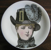 French Buckle Victorian Hat Fashion Porcelain Plate Melle Catherine