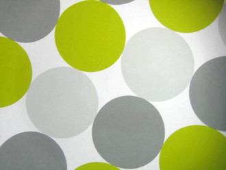 Urban Chic Mod Green Gray Big Dots Plate M