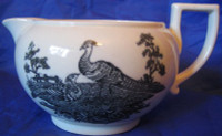 Black White Exotic Bird Small Shabby Pitcher