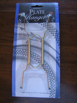 "Adjustable Wire Spring Plate Hanger for 8-12"" Decorative Plates"