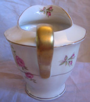 Shabby Chic Sweet Pink Rose Gold Handle Pitcher USA