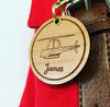"Personalised ""Boys"" Wooden Bag Tag *multiple choice*"