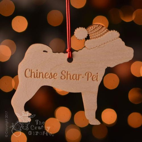 Personalised Chinese Shar Pei Dog Decoration