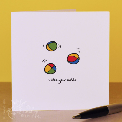 I like your balls Card