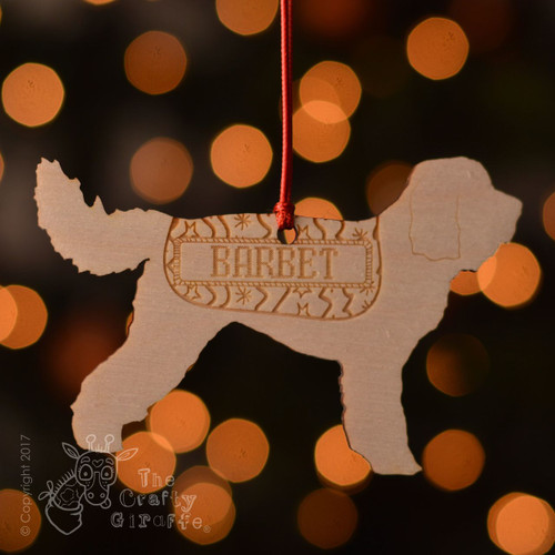 Personalised Barbet Dog Decoration