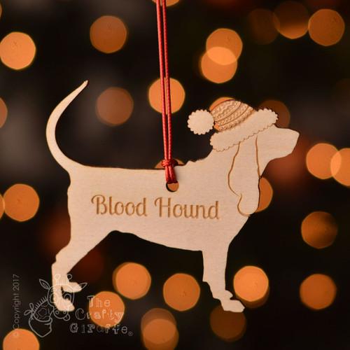 Personalised Blood Hound Dog Decoration