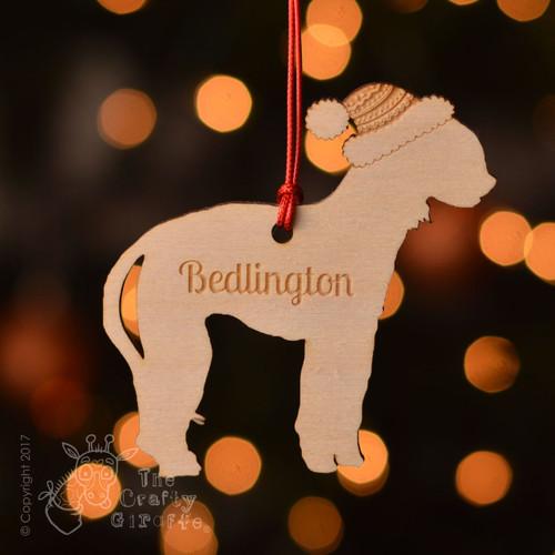 Personalised Bedlington Dog Decoration