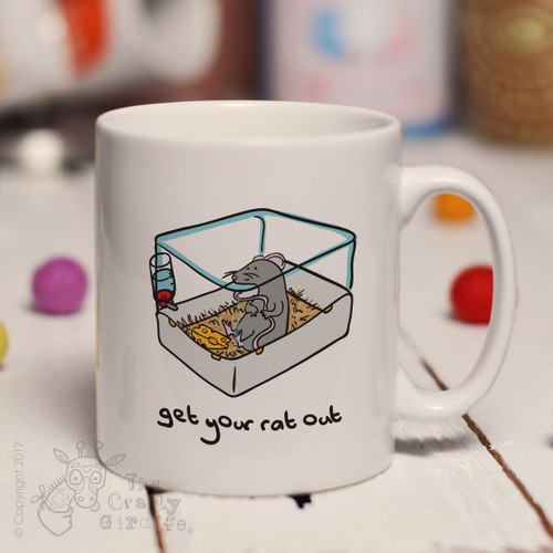 Get your rat out cage mug