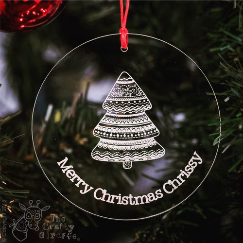 Personalised Patterned Tree Bauble