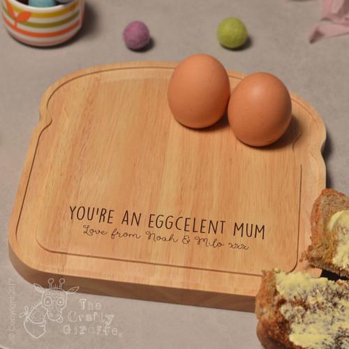 Personalised Breakfast Egg Board - Eggcelent