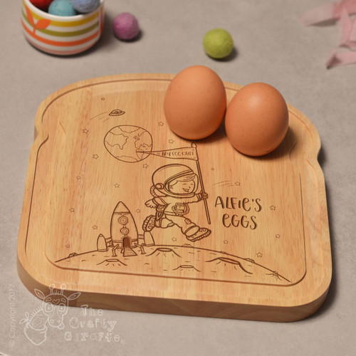 Personalised Breakfast Egg Board - Space