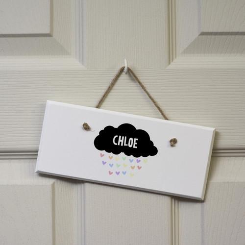 Personalised Black Cloud Sign