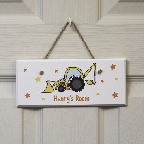 Personalised Digger Sign
