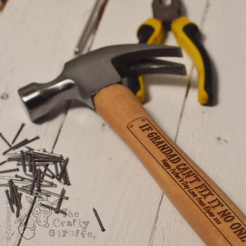 Personalised Hammer - Fix it with extra text