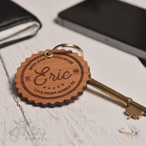 Personalised Best Dad Keyring