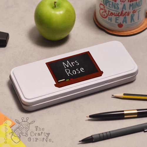 Personalised Blackboard Pencil Tin