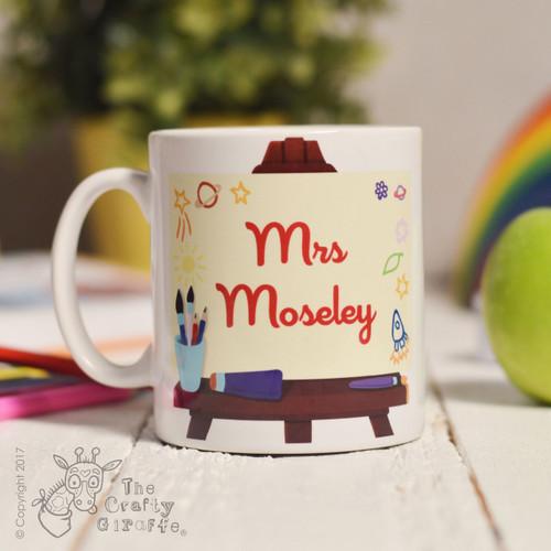 Personalised Art Easel Mug