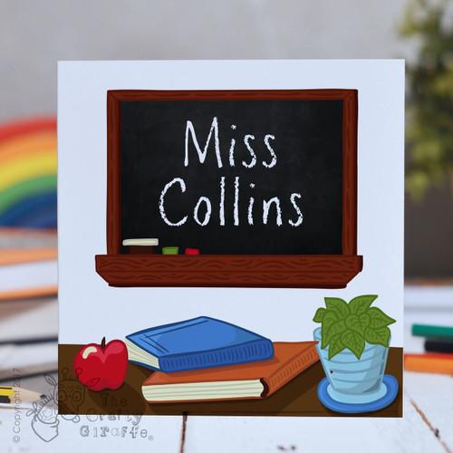 Personalised Blackboard Card