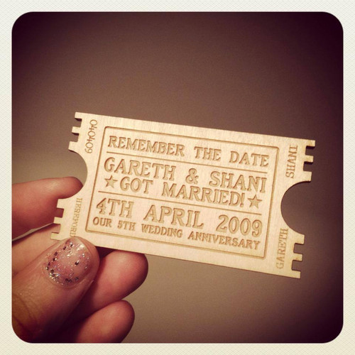 Personalised Anniversary Magnet