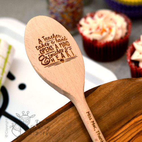 Personalised A teacher takes a hand Spoon