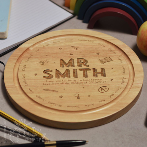 Personalised Teacher Classroom Round Board - 32 Names
