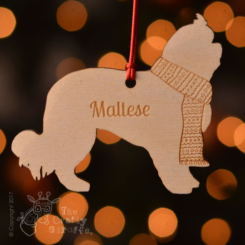 Personalised Maltese Dog Decoration