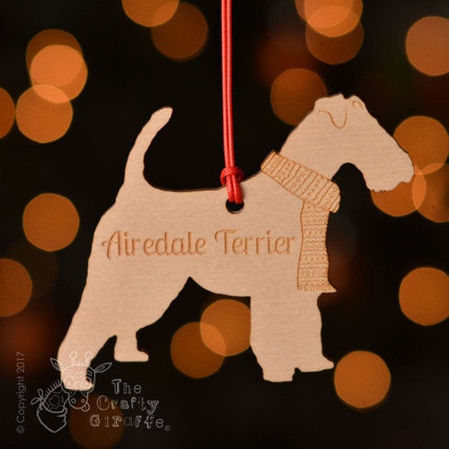 Personalised Airedale Terrier Dog Decoration