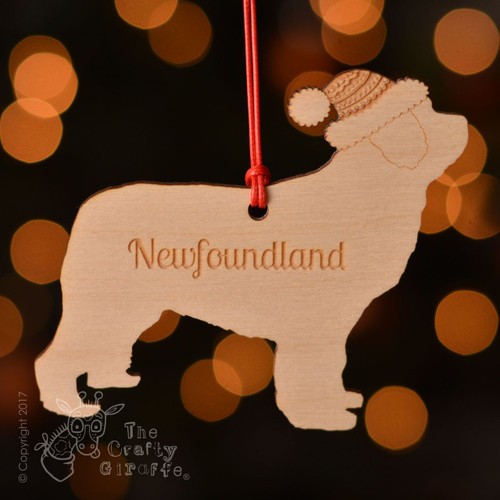 Personalised Newfoundland Dog Decoration