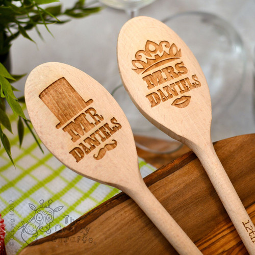 Personalised Retro Mr and Mrs Spoons
