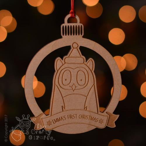 Personalised Owl Decoration