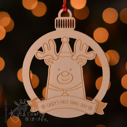 Personalised Reindeer Decoration.