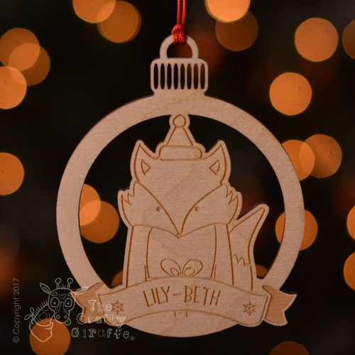 Personalised Fox Decoration