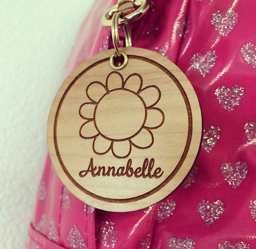 "Personalised ""Girls"" Wooden Bag Tag *multiple choice*"