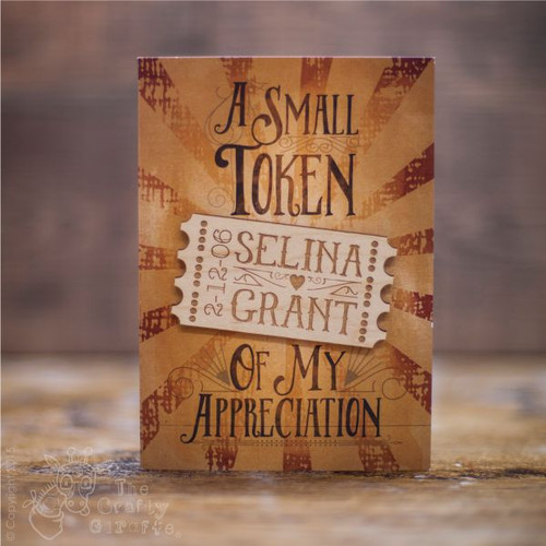 """Personalised """"A small token of my appreciation"""" Magnet Card"""