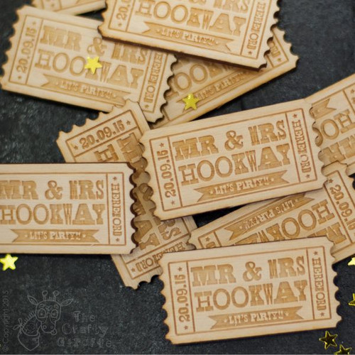 Personalised Ticket Favours