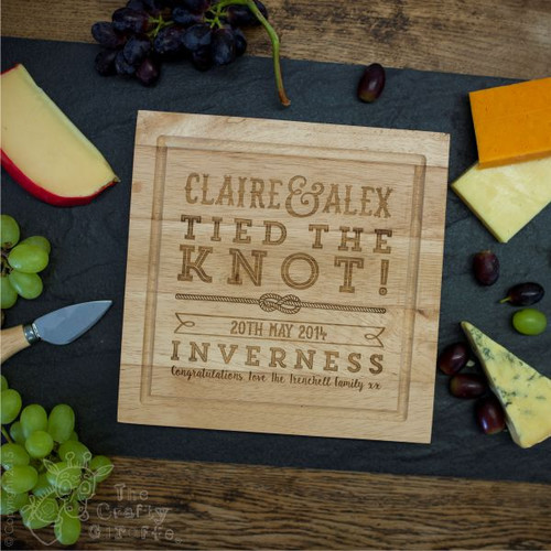 Personalised Wedding/Anniversary Cheese board with Knives