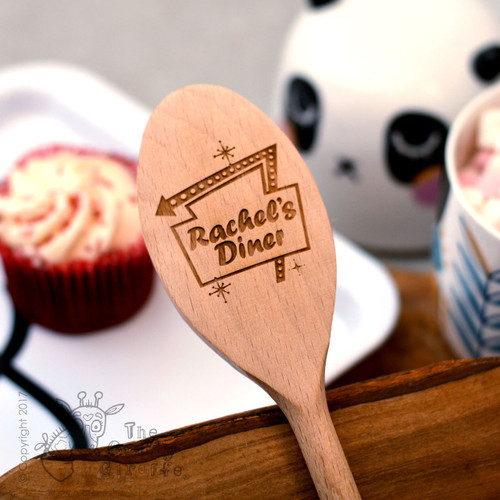 Personalised 'Diner Sign' Spoon
