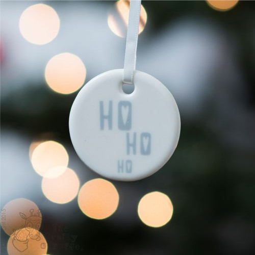 Ho Ho Ho - Ceramic Hanging Decoration