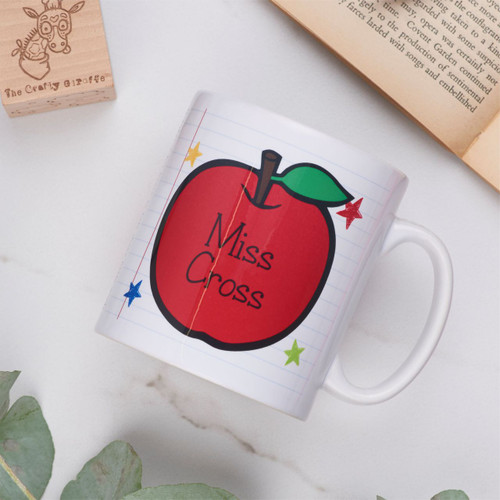 Personalised Teacher Mug - Apple