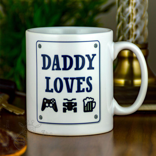 """Personalised Mug - """"things he loves"""""""