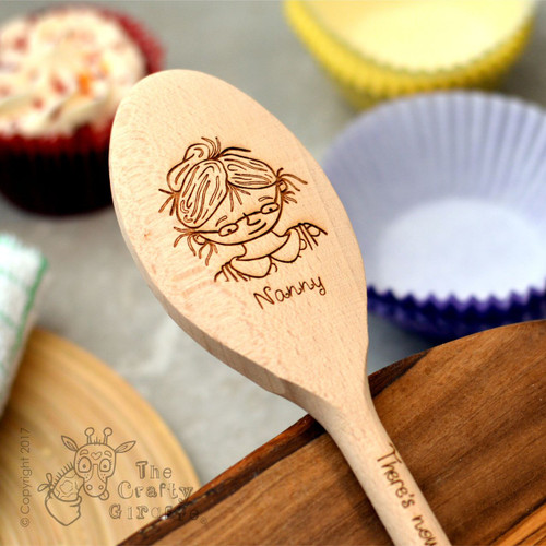 Personalised Character Spoon Face - Nanny