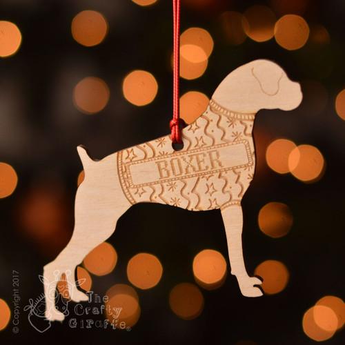 Personalised Boxer Dog Decoration