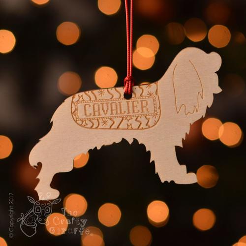 Personalised Cavalier King Charles Spaniel Decoration
