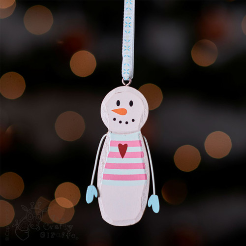Hanging Snowman with heart