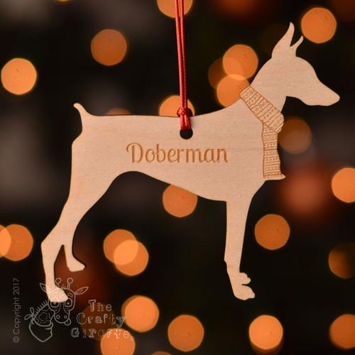 Personalised Doberman Dog Decoration
