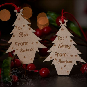 Personalised Christmas Tree Gift Tags