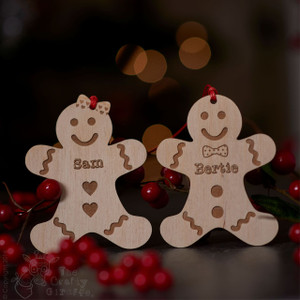 Personalised Gingerbread Man and Lady