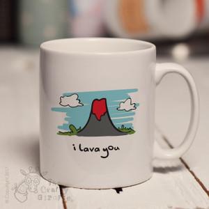 Personalised I lava you mug