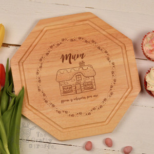 Personalised - Home is wherever you are (rose) board